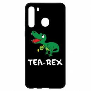 Etui na Samsung A21 Mały dinozaur z herbatą