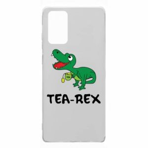 Etui na Samsung Note 20 Mały dinozaur z herbatą
