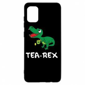 Etui na Samsung A31 Mały dinozaur z herbatą
