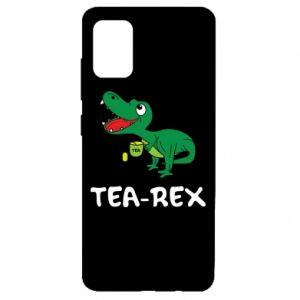 Etui na Samsung A51 Mały dinozaur z herbatą