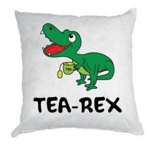 Poduszka Mały dinozaur z herbatą - PrintSalon