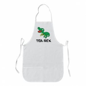 Apron Little dinosaur with tea