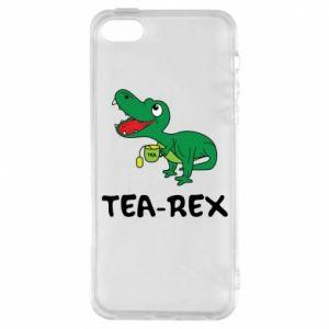 Etui na iPhone 5/5S/SE Mały dinozaur z herbatą - PrintSalon