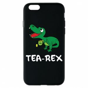 Phone case for iPhone 6/6S Little dinosaur with tea