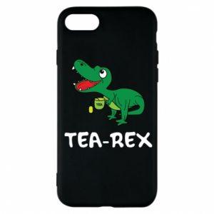Etui na iPhone 7 Mały dinozaur z herbatą - PrintSalon
