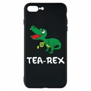 Etui na iPhone 7 Plus Mały dinozaur z herbatą - PrintSalon
