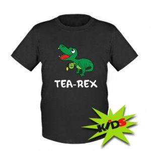 Kids T-shirt Little dinosaur with tea