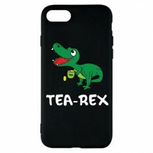 Etui na iPhone 8 Mały dinozaur z herbatą - PrintSalon