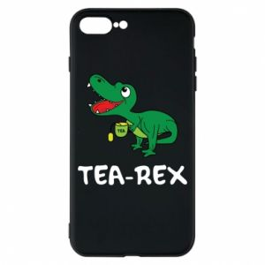 Etui na iPhone 8 Plus Mały dinozaur z herbatą