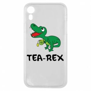 Etui na iPhone XR Mały dinozaur z herbatą - PrintSalon