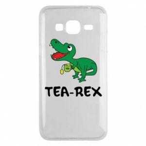 Etui na Samsung J3 2016 Mały dinozaur z herbatą - PrintSalon