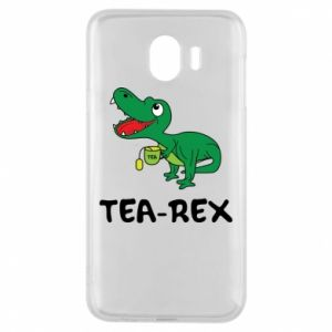 Etui na Samsung J4 Mały dinozaur z herbatą - PrintSalon