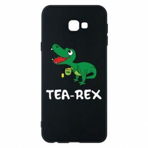 Etui na Samsung J4 Plus 2018 Mały dinozaur z herbatą - PrintSalon