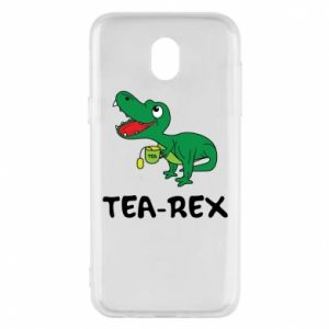 Phone case for Samsung J5 2017 Little dinosaur with tea