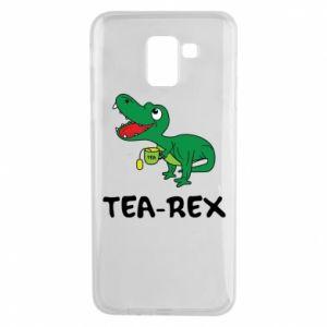 Etui na Samsung J6 Mały dinozaur z herbatą