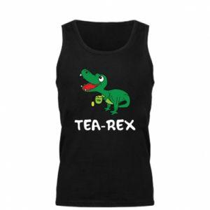 Męska koszulka Mały dinozaur z herbatą - PrintSalon