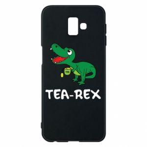 Etui na Samsung J6 Plus 2018 Mały dinozaur z herbatą - PrintSalon