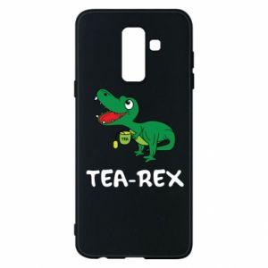 Etui na Samsung A6+ 2018 Mały dinozaur z herbatą