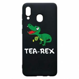 Etui na Samsung A20 Mały dinozaur z herbatą - PrintSalon