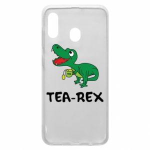 Etui na Samsung A30 Mały dinozaur z herbatą - PrintSalon