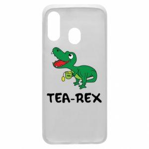 Etui na Samsung A40 Mały dinozaur z herbatą - PrintSalon