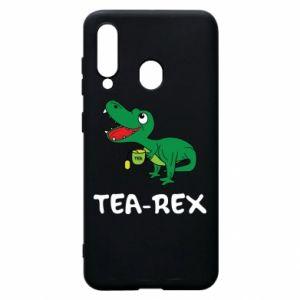 Etui na Samsung A60 Mały dinozaur z herbatą - PrintSalon