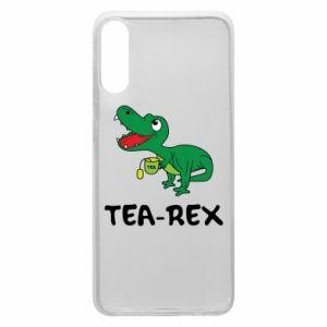Etui na Samsung A70 Mały dinozaur z herbatą - PrintSalon