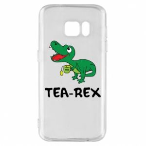 Etui na Samsung S7 Mały dinozaur z herbatą - PrintSalon