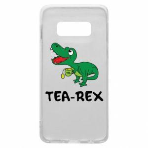 Etui na Samsung S10e Mały dinozaur z herbatą - PrintSalon