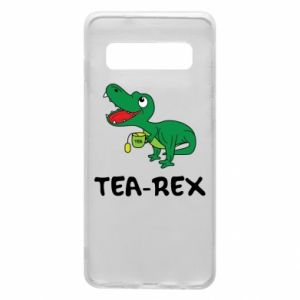 Etui na Samsung S10 Mały dinozaur z herbatą - PrintSalon