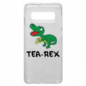 Etui na Samsung S10+ Mały dinozaur z herbatą