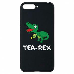 Etui na Huawei Y6 2018 Mały dinozaur z herbatą - PrintSalon