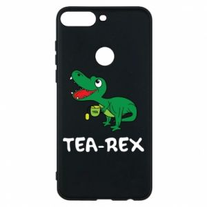 Phone case for Huawei Y7 Prime 2018 Little dinosaur with tea