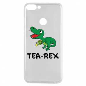 Etui na Huawei P Smart Mały dinozaur z herbatą - PrintSalon
