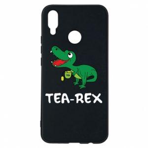 Etui na Huawei P Smart Plus Mały dinozaur z herbatą - PrintSalon
