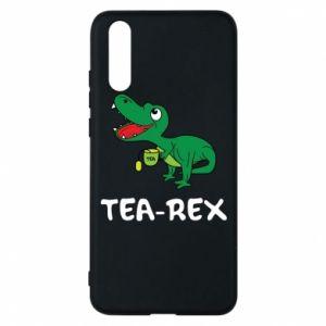 Etui na Huawei P20 Mały dinozaur z herbatą - PrintSalon