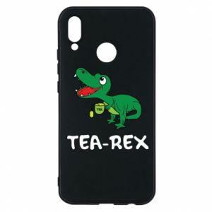 Etui na Huawei P20 Lite Mały dinozaur z herbatą - PrintSalon