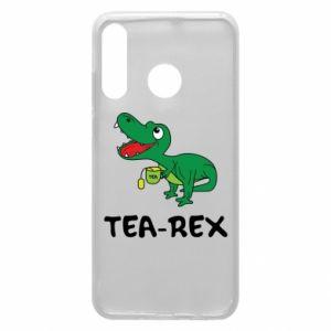 Etui na Huawei P30 Lite Mały dinozaur z herbatą