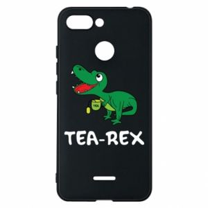 Phone case for Xiaomi Redmi 6 Little dinosaur with tea