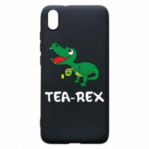 Phone case for Xiaomi Redmi 7A Little dinosaur with tea