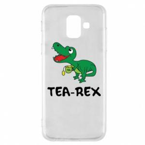 Etui na Samsung A6 2018 Mały dinozaur z herbatą - PrintSalon