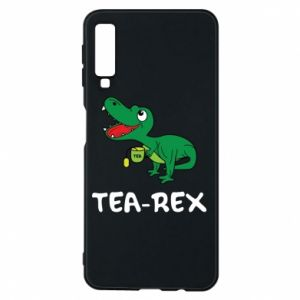 Etui na Samsung A7 2018 Mały dinozaur z herbatą - PrintSalon
