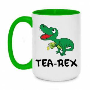 Kubek dwukolorowy 450ml Mały dinozaur z herbatą