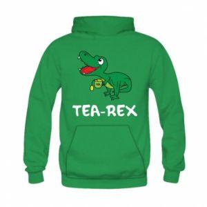 Bluza z kapturem dziecięca Mały dinozaur z herbatą