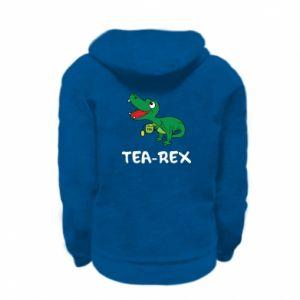 Bluza na zamek dziecięca Mały dinozaur z herbatą