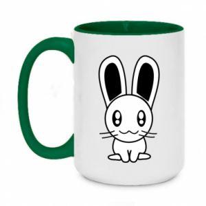 Two-toned mug 450ml Little Bunny