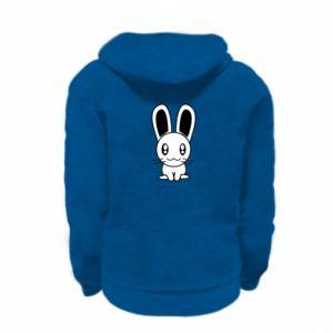 Kid's zipped hoodie % print% Little Bunny