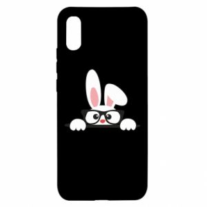 Xiaomi Redmi 9a Case Bunny with glasses