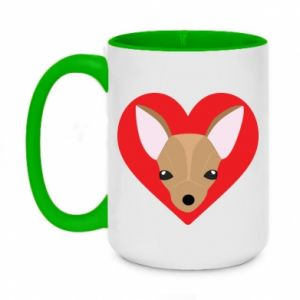 Two-toned mug 450ml A little dog