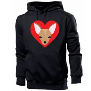 Men's hoodie A little dog